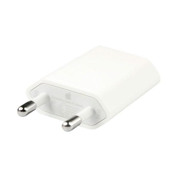 Apple md813zm/a blanco adaptador de corriente usb de 5w original de apple