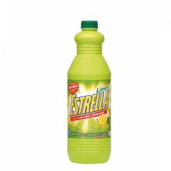 Estrella lejía y detergente limon 1.5 l