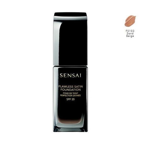 Kanebo sensai flawless satin foundation fs103 sand beige