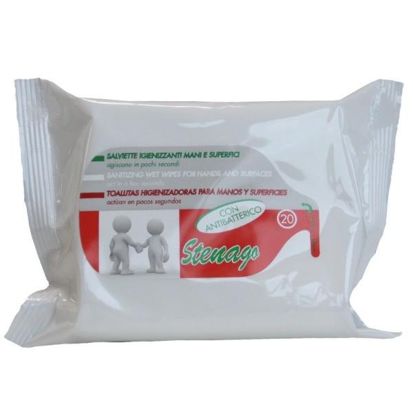 Stenago toallitas Higienizantes 20 u. Antibacterias.