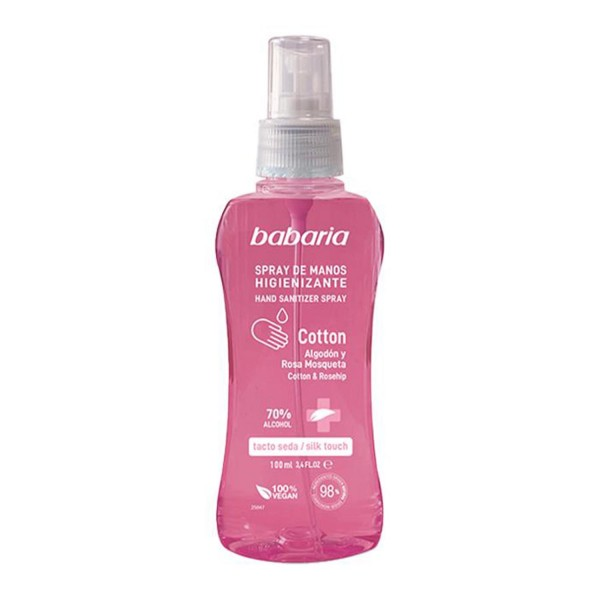 Babaria cotton gel de manos higienizante spray 70% alcohol 500ml