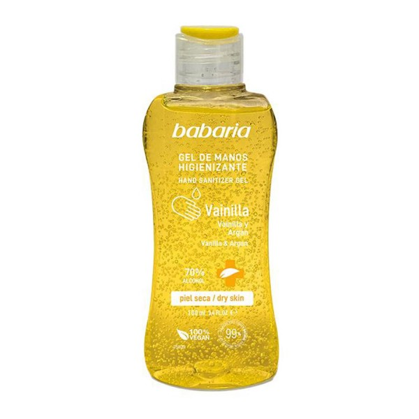 Babaria vainilla y argan gel de manos higienizante spray piel seca 70% alcohol 500ml