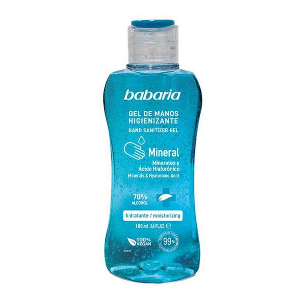 Babaria mineral gel de manos higienizante 70% alcohol 500ml