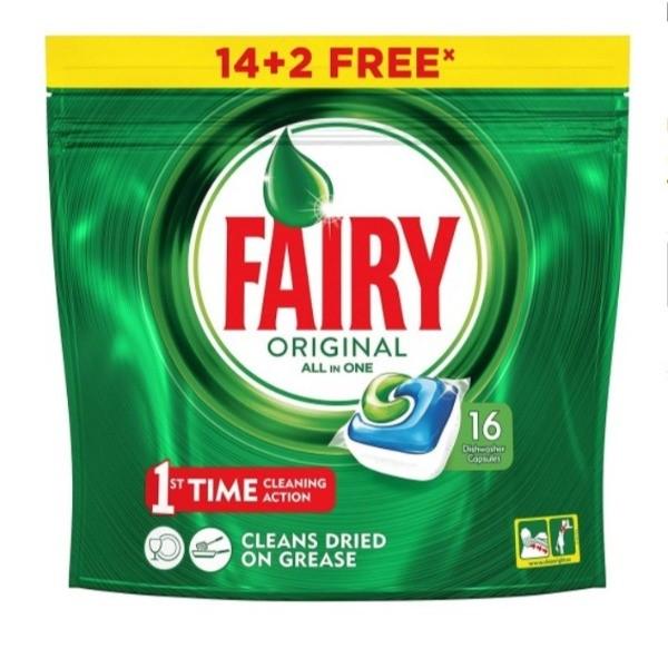 Fairy lavavajillas 14 + 2 cápsulas