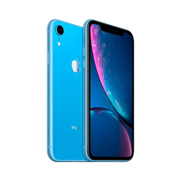 Apple iphone xr 64gb azul reacondicionado cpo móvil 4g 6.1'' liquid retina hd led hdr/6core/64gb/3gb ram/12mp/7mp
