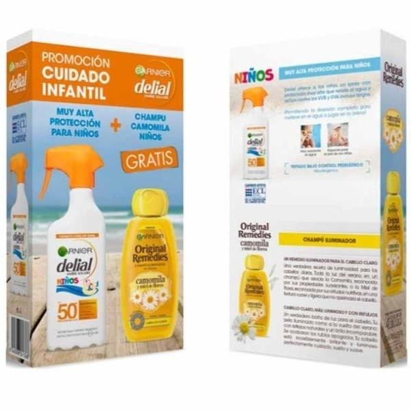 Delial Protección Solar Infantil 300 ml + Garnier champú Camomila 250 ml